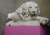 Francesco Benaglia and Rinaldo Rinaldi, Pair of reclining lions (detail) 1823-5
