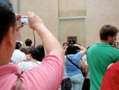 Encountering the Mona Lisa at the Louvre, Paris 2010.