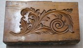 Reverse hand carved boxwood mould Linton Temples of Paestum