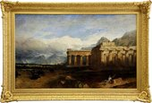 The finished replica frame Linton's Temples of Paestum