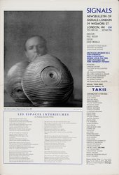 Front cover of Signals: Newsbulletin of the Centre of Advanced Creative Study Vol 1, Nos. 3 and 4, October–November 1964