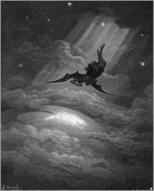 Gustav Doré Illustration for Paradise Lost 1866 'Nor staid, till on Niphates' top he lights.'