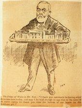 Henry Tate holding a model of Tate Gallery, Pall Mall Gazette, 21 July 1897