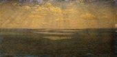 John Brett, The British Channel Seen from the Dorsetshire Cliffs 1871