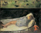 Paul Gauguin The Little One is Dreaming, Study 1881