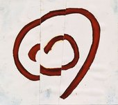 Roni Horn Must 7 1985 a drawing of a fragmented spiral