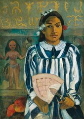 Paul Gauguin Merahi Metua no Tehamana (The Ancestors of Tehamana or Tehamana has many Parents) 1893