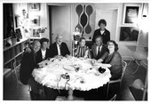 Photograph taken by Alexander Liberman of a gathering at his home c.1965
