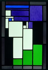 Theo van Doesburg Stained-Glass Composition Female Head 1917