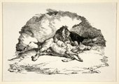 Théodore Gericault Lion Devouring a Horse c.1820