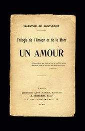 Title page of Valentine de Saint Point Un Amour