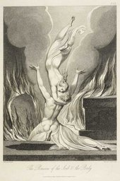 William Blake The Reunion of the Soul and the Body in Robert Blair, 'The Grave', London 1808