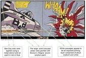 From Op Art to Pop Art - The NANORESTART team take on Lichtenstein's Whaam!