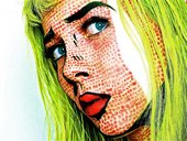 Inez Skilling Pop Art inspired Makeup