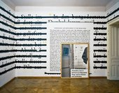 Installation view of Joseph Kosuth Zero and Not exhibition at the Sigmund Freud museum Vienna
