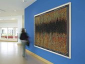 Susan Morris Installation shot of SunDial:NightWatch_Sleep/Wake_2011 2012 in John Radcliffe Hospital, Oxford