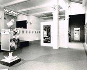 Installation view of Robert Rauschenberg's exhibition at the Whitechapel Gallery, London, from 4 February to 8 March 1964
