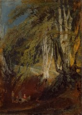 J.M.W. Turner A Beech Wood with Gypsies round a Campfire 1799–1801