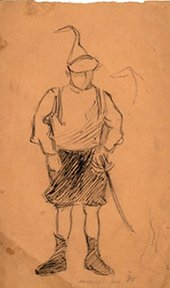 Jacques Villon Marcel in Soldier's Disguise c.1894–5