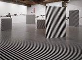 Jim Lambie Mental Oyster, installation view, Anton Kern Gallery New York, 2004