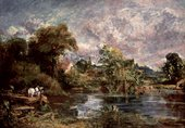 John Constable The White Horse (full-size sketch) about 1818