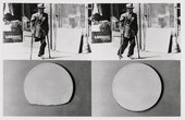 John Baldessari Repair Retouch Series An Allegory About Wholeness Plate and Man with Crutches 1976