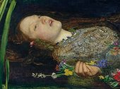 Sir John Everett Millais Detail of Ophelia 1851–2 face
