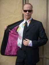 John Waters in a Viktor & Rolf and Lily van der Stokker shirt, Baltimore, February 2010