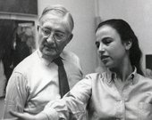 Josef Albers and Eva Hesse, Yale University, c.1958