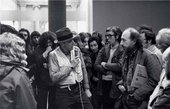 Joseph Beuys talking to Richard Hamilton at Tate 1972