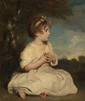 Sir Joshua Reynolds, The Age of Innocence ?1788, now restored