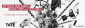 Joyous Machines exhibition banner