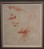 Jusepe de Ribera's Head in Profile Wearing a Veil and a Wimple, 17th century. Jean-Luc Baroni
