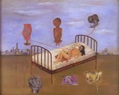 Frida Kahlo Henry Ford Hospital 1932 Oil on metal panel 305 x 350mm