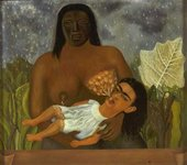 Frida Kahlo My Nurse and I or Me Suckling 1937 Oil on metal panel 305 x 347 mm