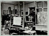Paul Klee's studio at the Bauhaus, Weimar, 1925