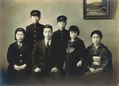 Kusama's family; Yayoi is second from the right.