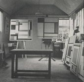 Marlow Moss's studio in Lamorna, Cornwall