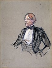 Henri de Toulouse-Lautrec Charles Conder: Study for Fashionable People at Les Ambassadeurs 1893 Oil on board