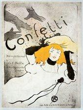 Henri de Toulouse-Lautrec Confetti 1894 Lithograph