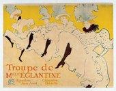 Henri de Toulouse-Lautrec La Troupe de Mademoiselle Eglantine 1896 Colour lithograph