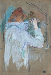Henri de Toulouse-Lautrec Woman Curling her Hair 1896