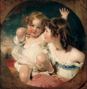 Sir Thomas Lawrence - Portraits of Emily and Laura Anne, the Children of Charles B Calmady 1823-4