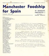 Leaflet announcing the Guernica exhibition, distributed by Manchester Foodship for Spain campaign, 1939