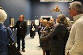 Look Group members viewing a display, Tate St Ives