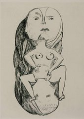 Louise Bourgeois Birth 1994 Drypoint on paper