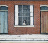L.S. Lowry Flowers in a Window 1956
