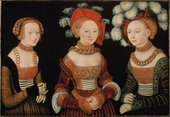 Lucas Cranach the Elder Three Princesses of Saxony: Sibylla, Emilia and Sidonia c.1535