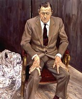 Lucian Freud Man in a Chair 1983-5