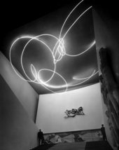 Lucio Fontana Spatial Light  Structure in Neon for the ninth Milan Triennial at the Palazzo dell Arte  Milan 1951